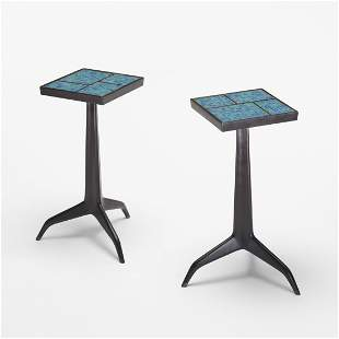 231: Edward Wormley Janus occasional tables, pair