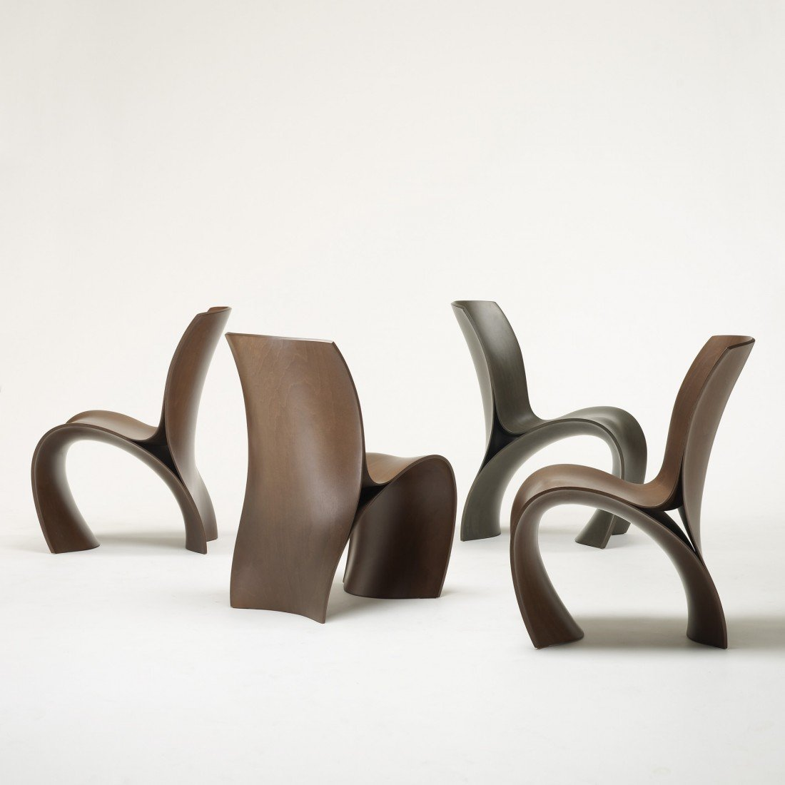 123: Ron Arad Three Skin chairs, set of four