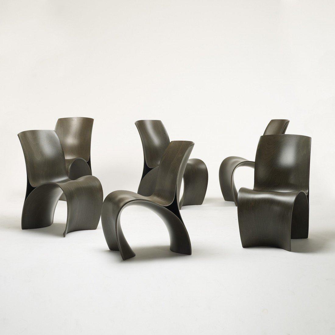 124: Ron Arad Three Skin chairs, set of six