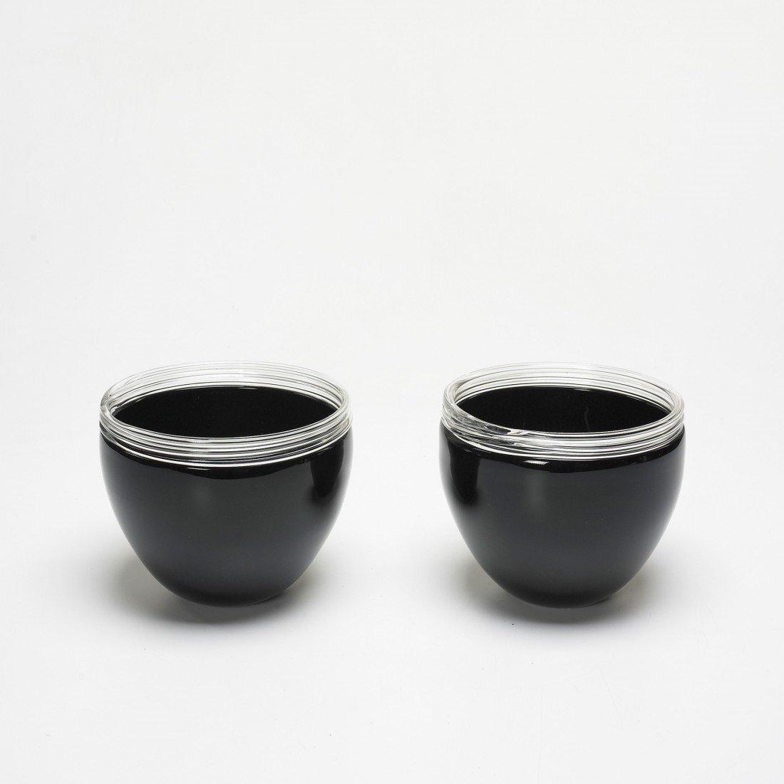 137: Alfredo Barbini bowls, pair