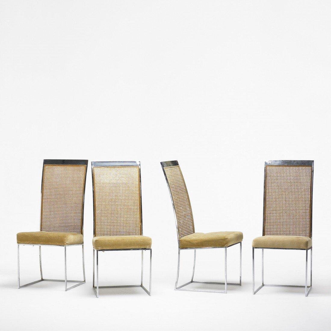 140: Milo Baughman chairs, set of four