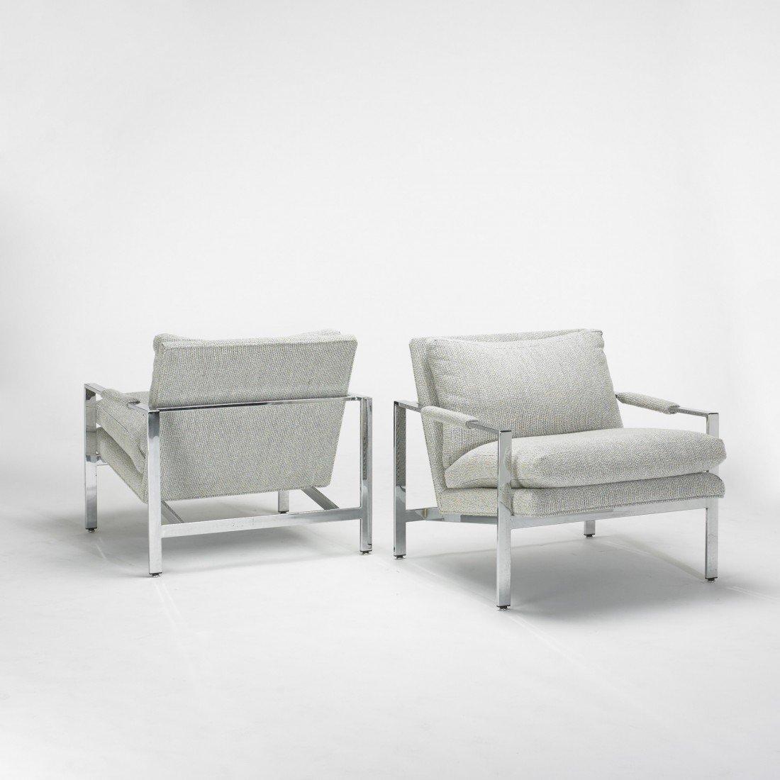 142: Milo Baughman lounge chairs, pair