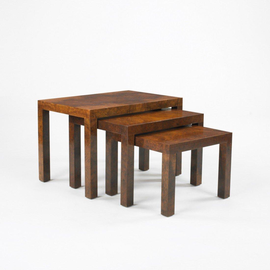 143: Milo Baughman nesting tables model 2694, set of th