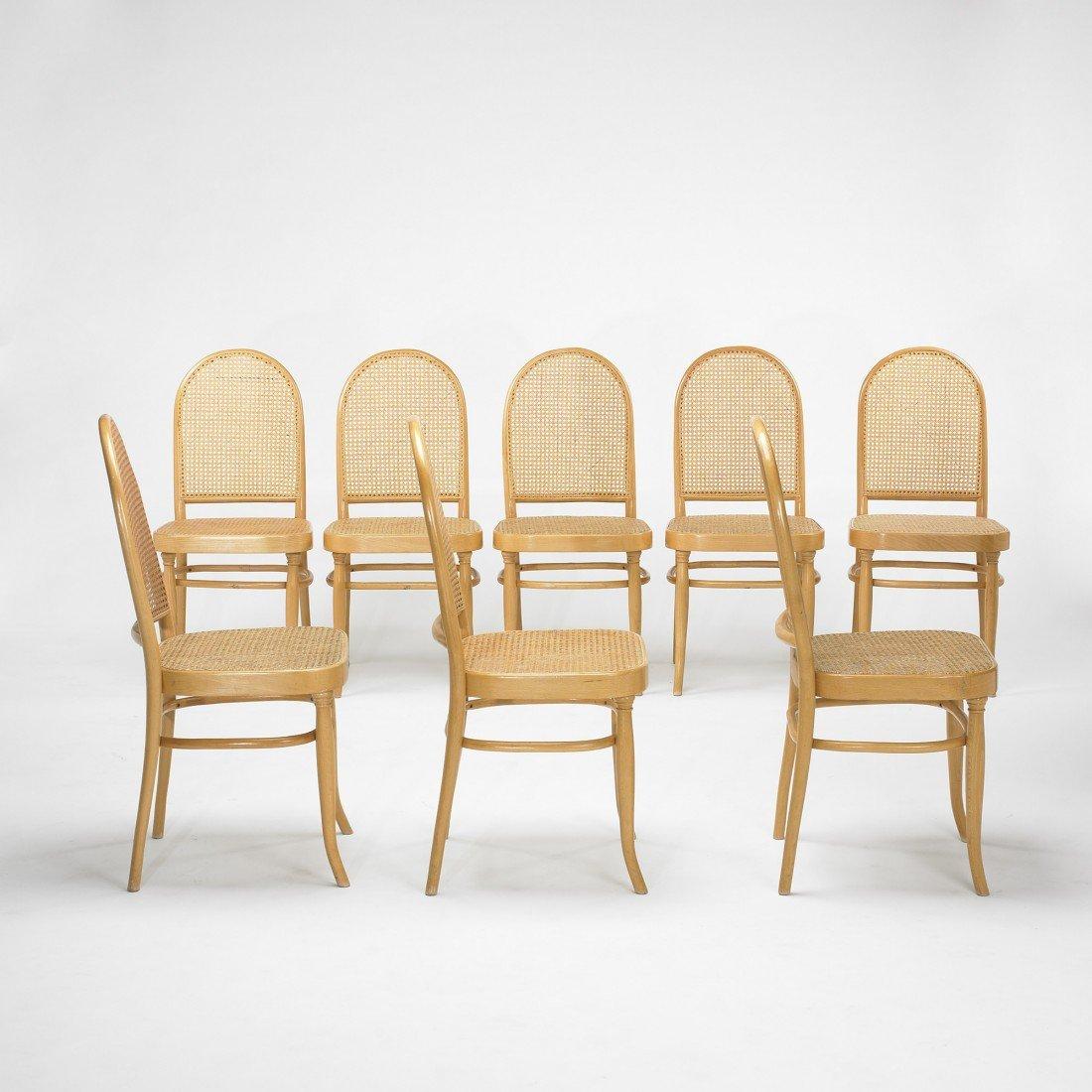 229: In the manner of Gebrüder Thonet chairs, set of ei