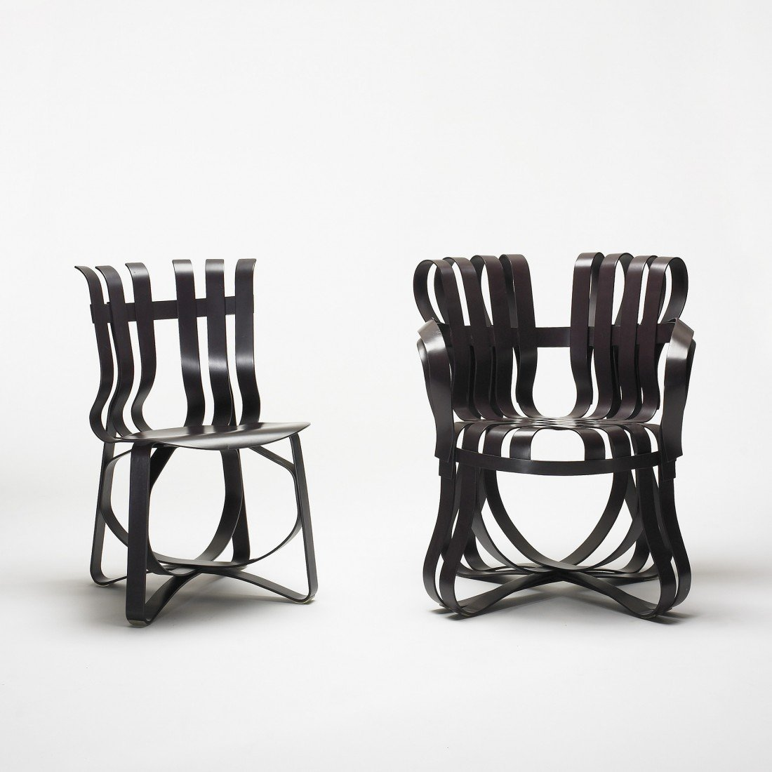 231: Frank Gehry Hat Trick chair and Cross Check chair