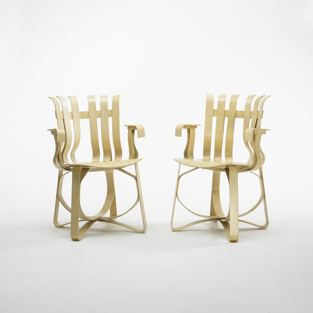 232: Frank Gehry Hat Trick chairs, pair