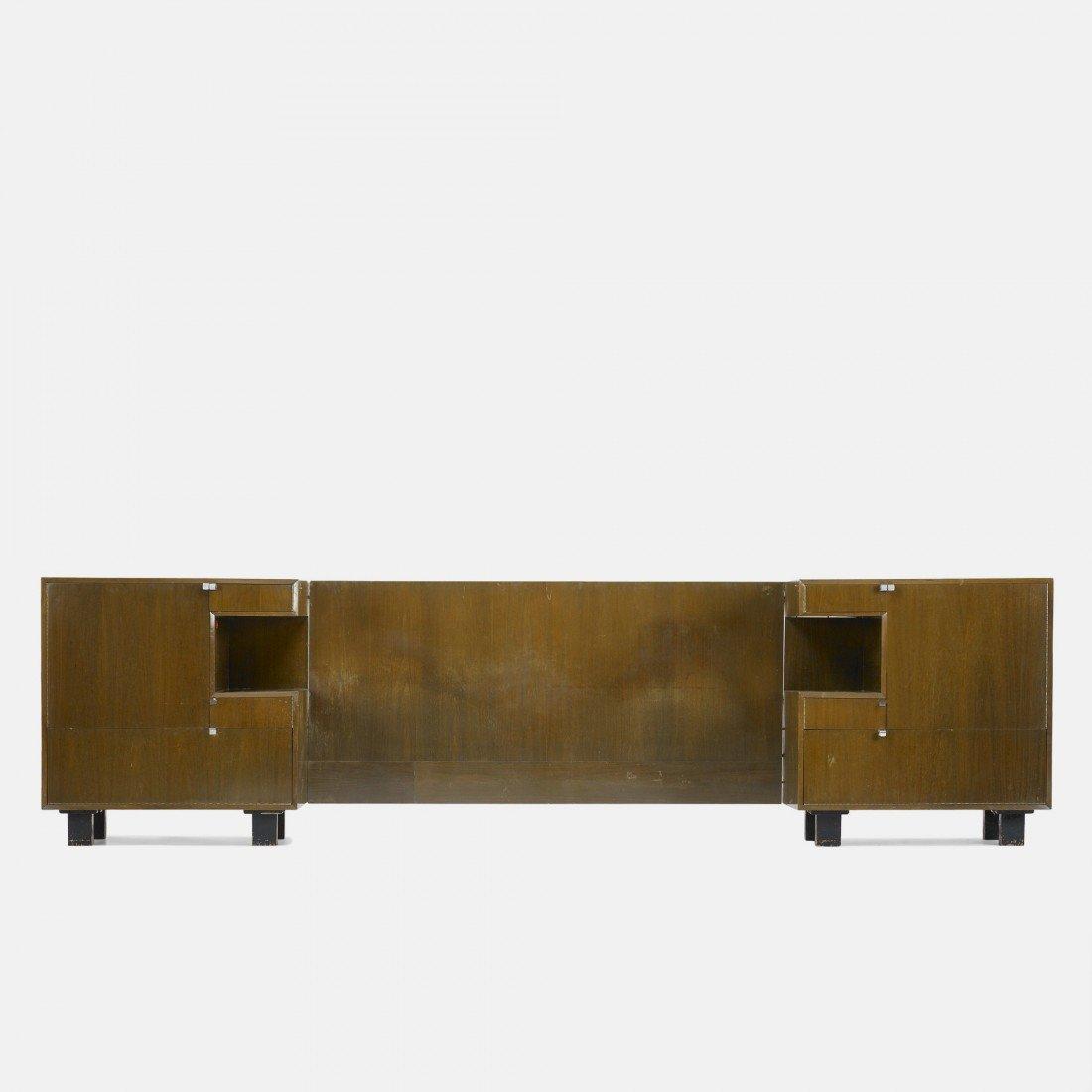238: Henry Glass custom headboard and nightstands