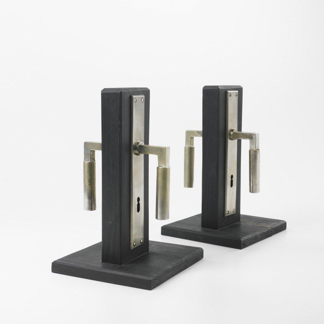 241: Walter Gropius door handles, two pairs