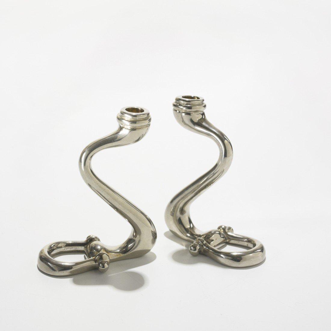 243: Gucci candlesticks, pair
