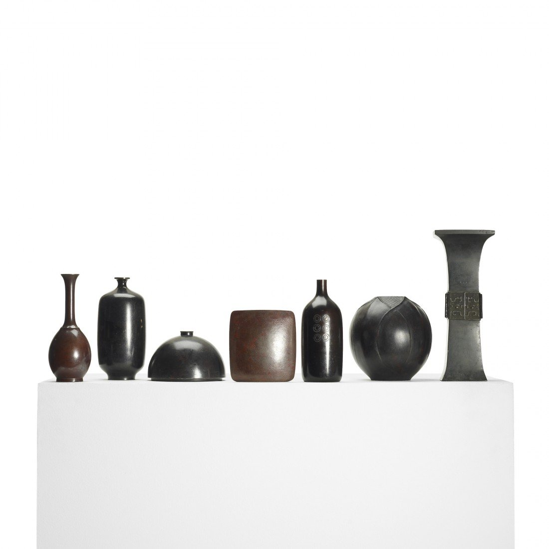 104: Modernist collection of seven vessels