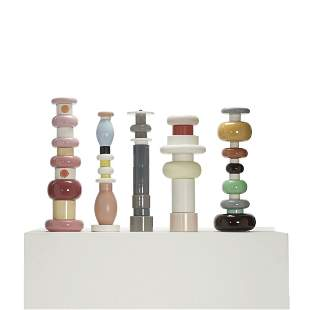 Ettore Sottsass totems, set of five