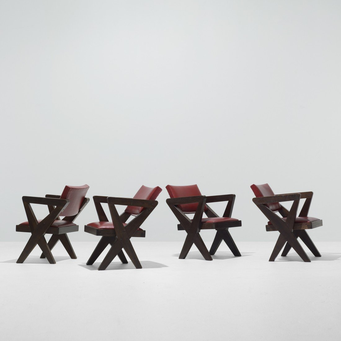 124: Pierre Jeanneret set of four armchairs