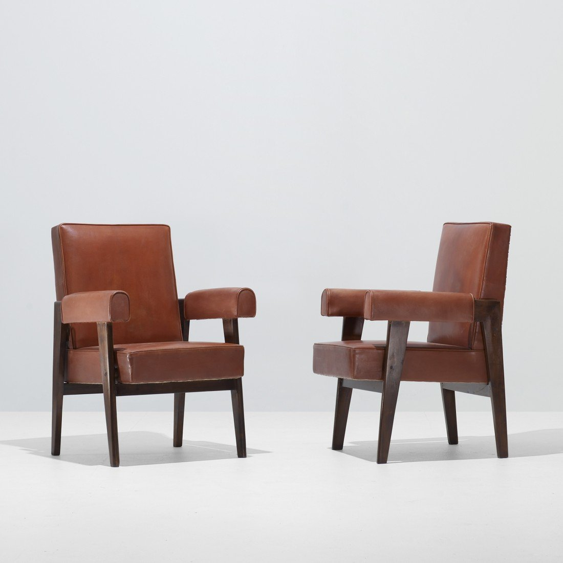 128: Le Corbusier and Jeanneret pair of armchairs