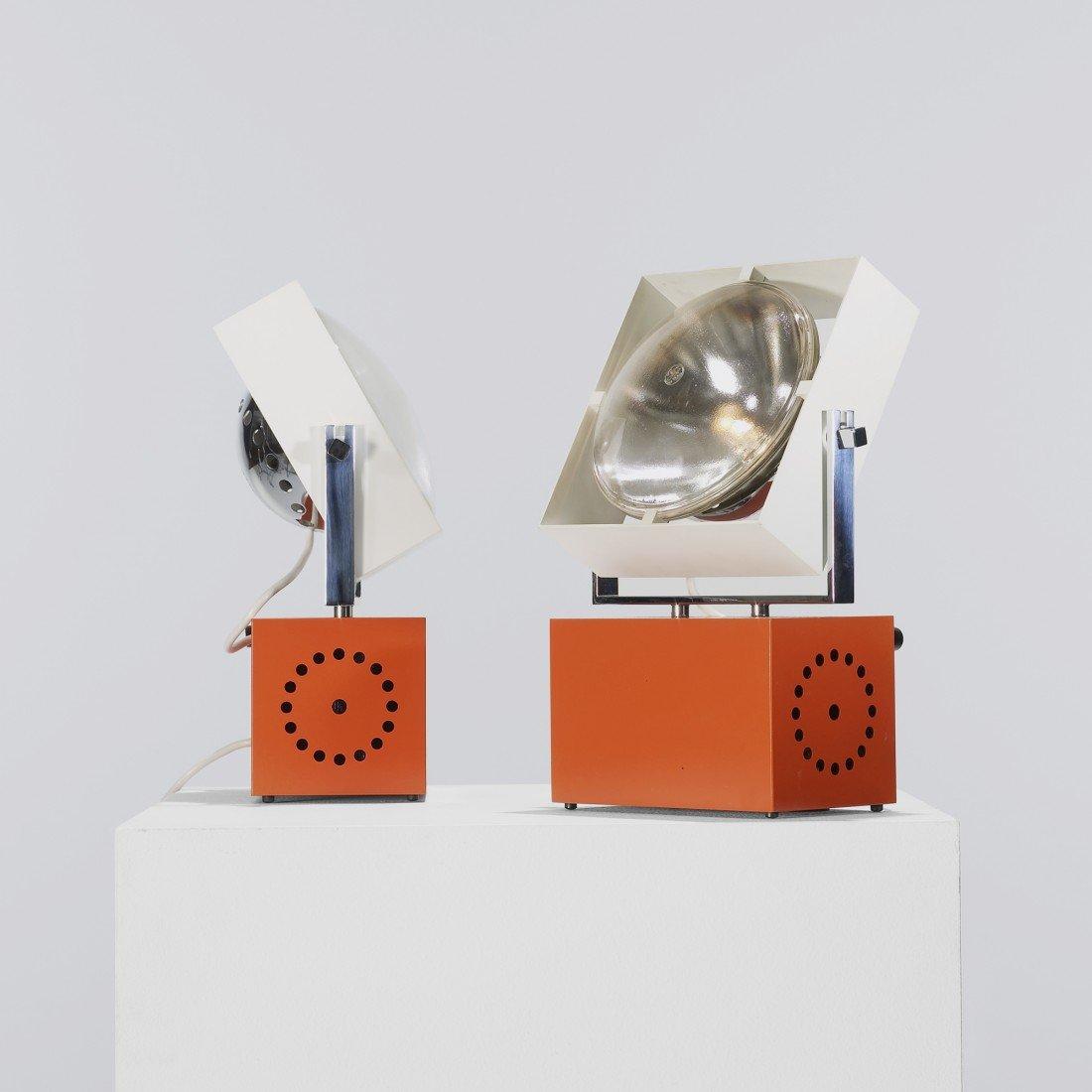 195: Angelo Lelli table lamps model 14008, pair