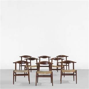 124: Hans Wegner Cow Horn chairs, set of eight