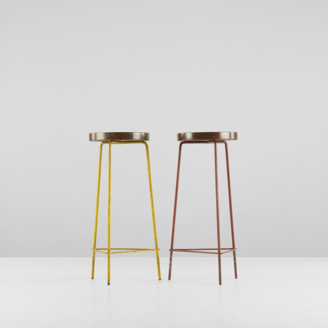 107: Pierre Jeanneret pair of stools