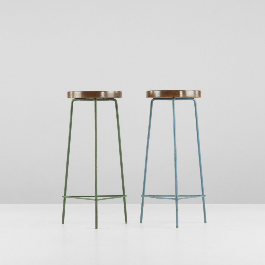 108: Pierre Jeanneret pair of stools