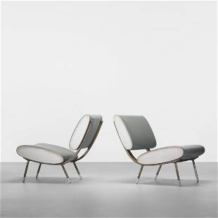 179: Gio Ponti pair of lounge chairs
