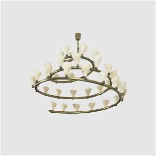 284: Gino Sarfatti chandelier