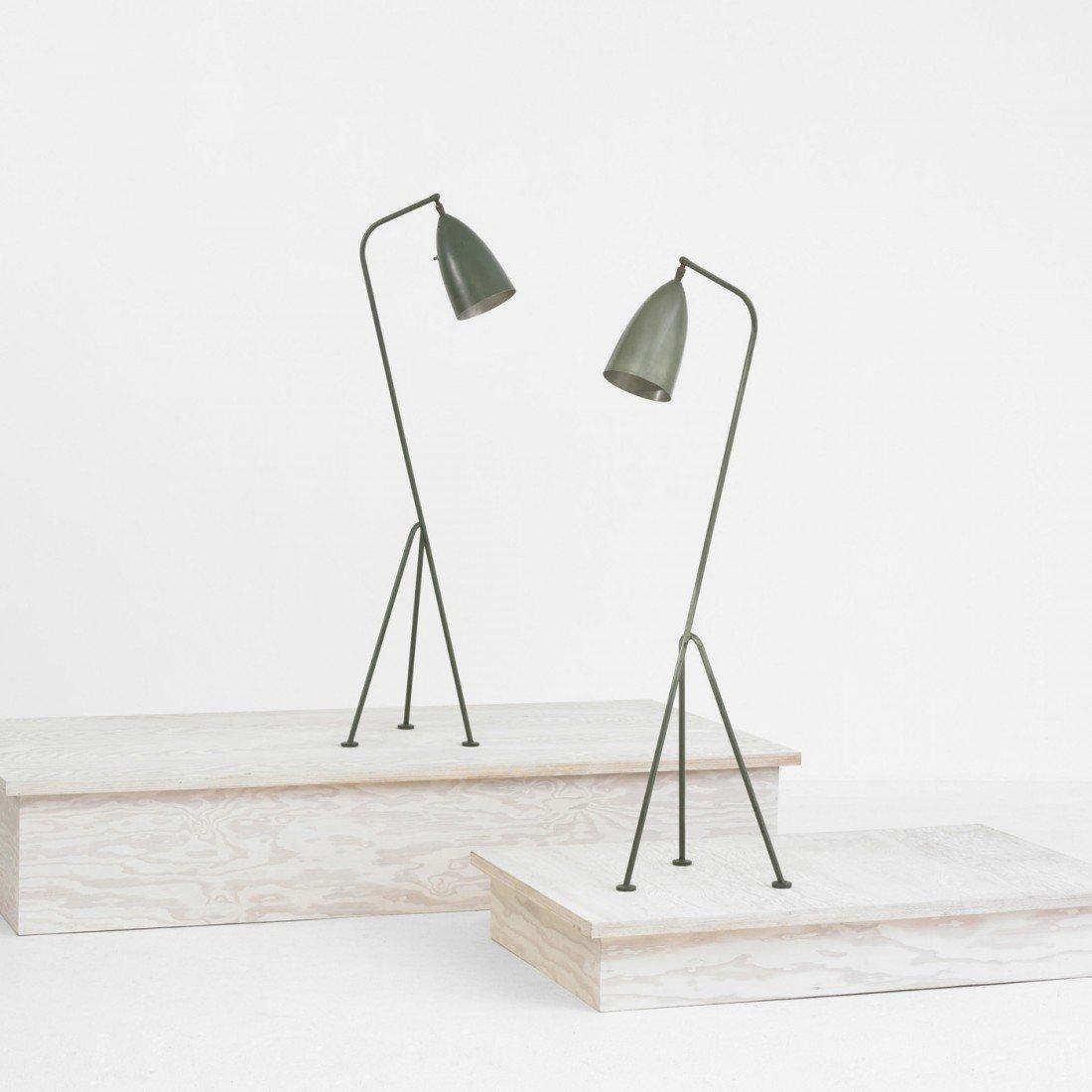 104: Grossman Grasshopper floor lamps, pair