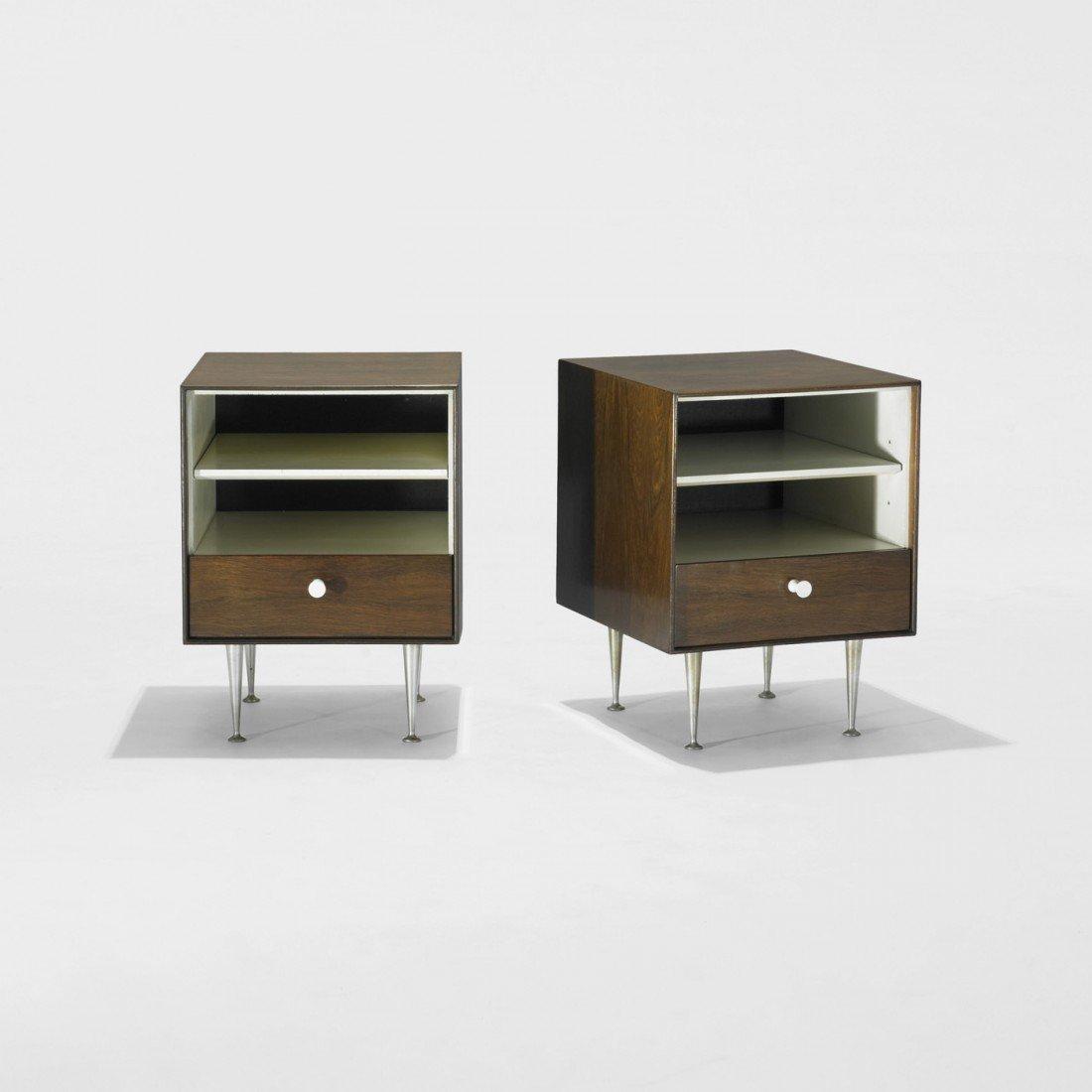 123: Nelson & Associates Thin Edge nightstands, pair