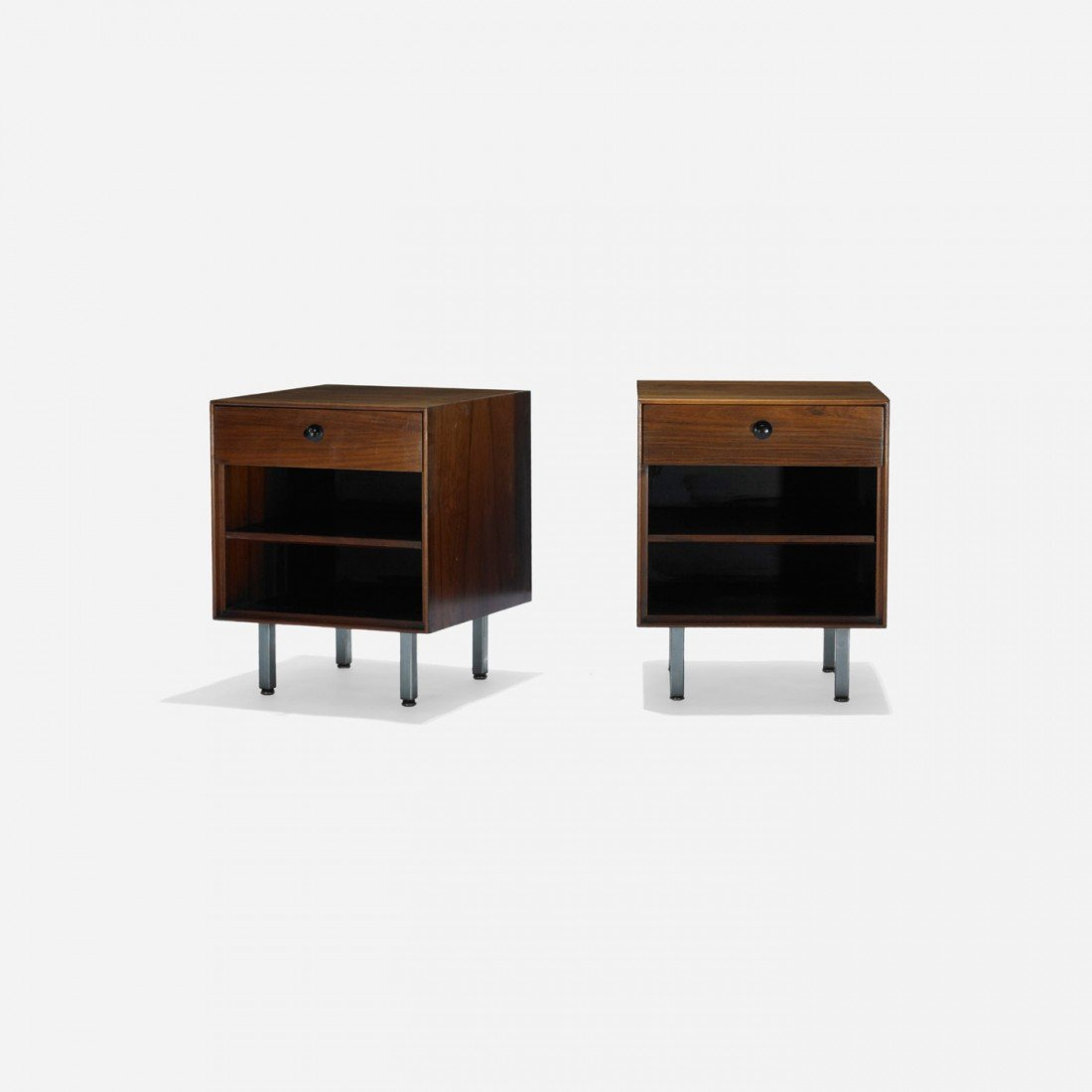 157: Nelson & Associates Thin Edge nightstands, pair
