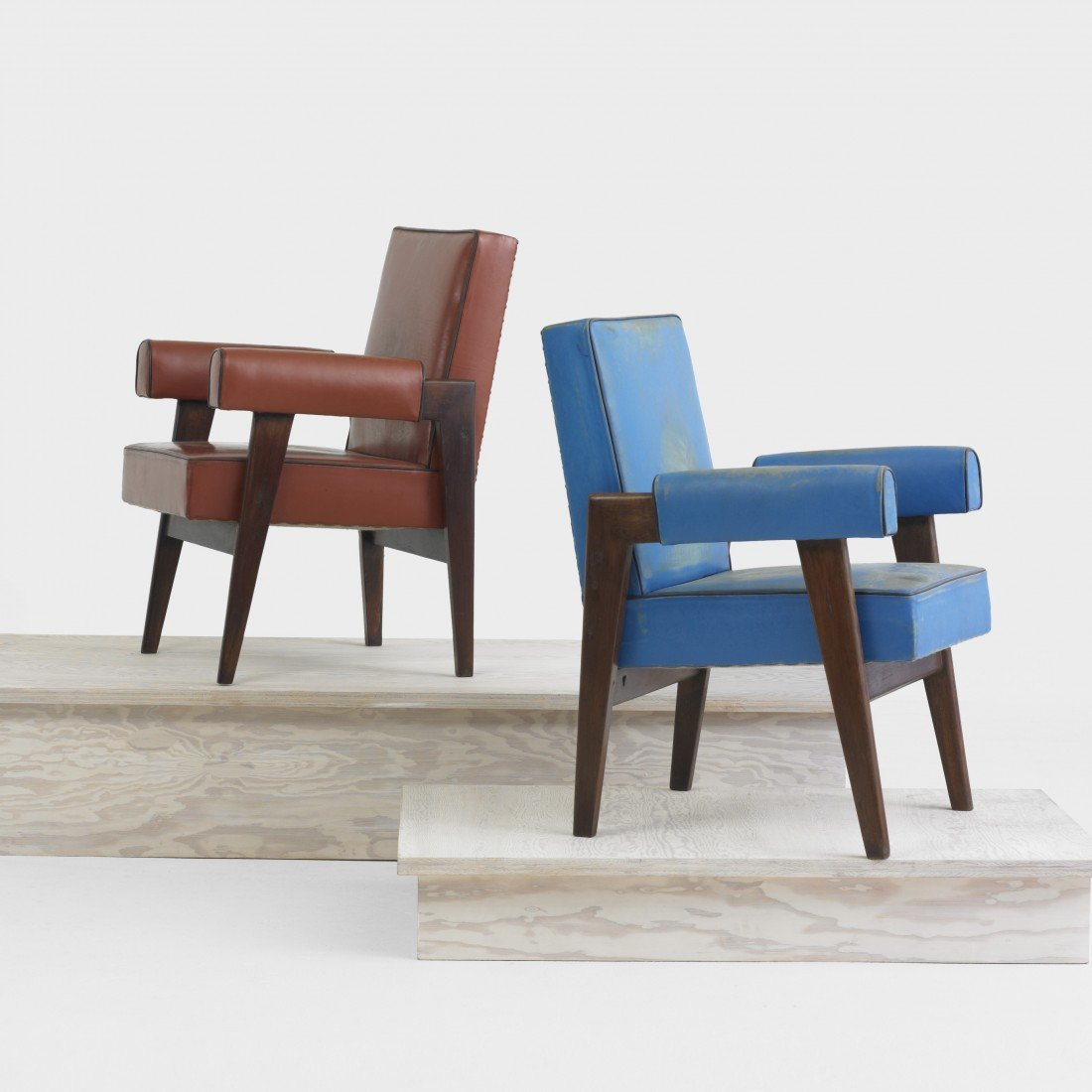 161: Le Corbusier and Jeanneret pair of armchairs