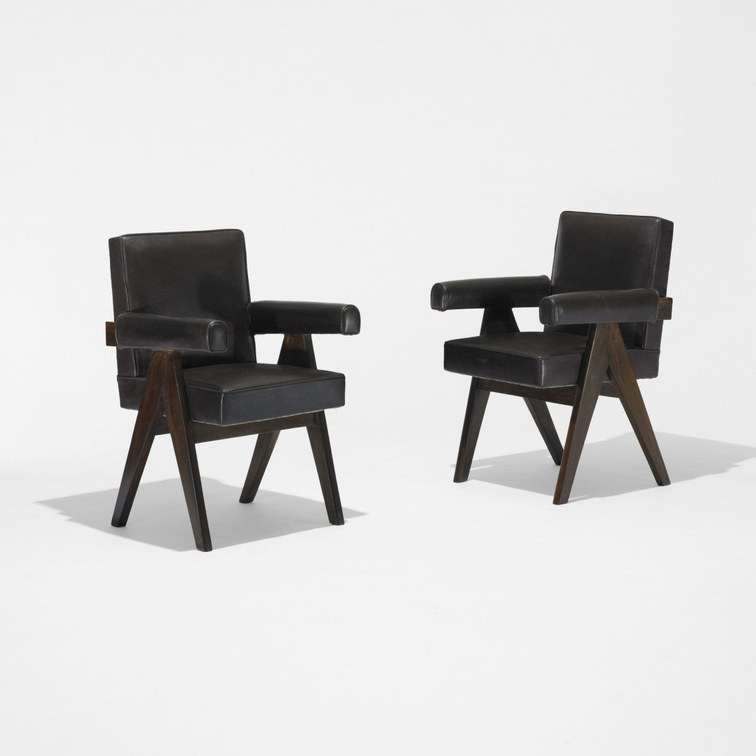 167: Pierre Jeanneret pair of Committe armchairs