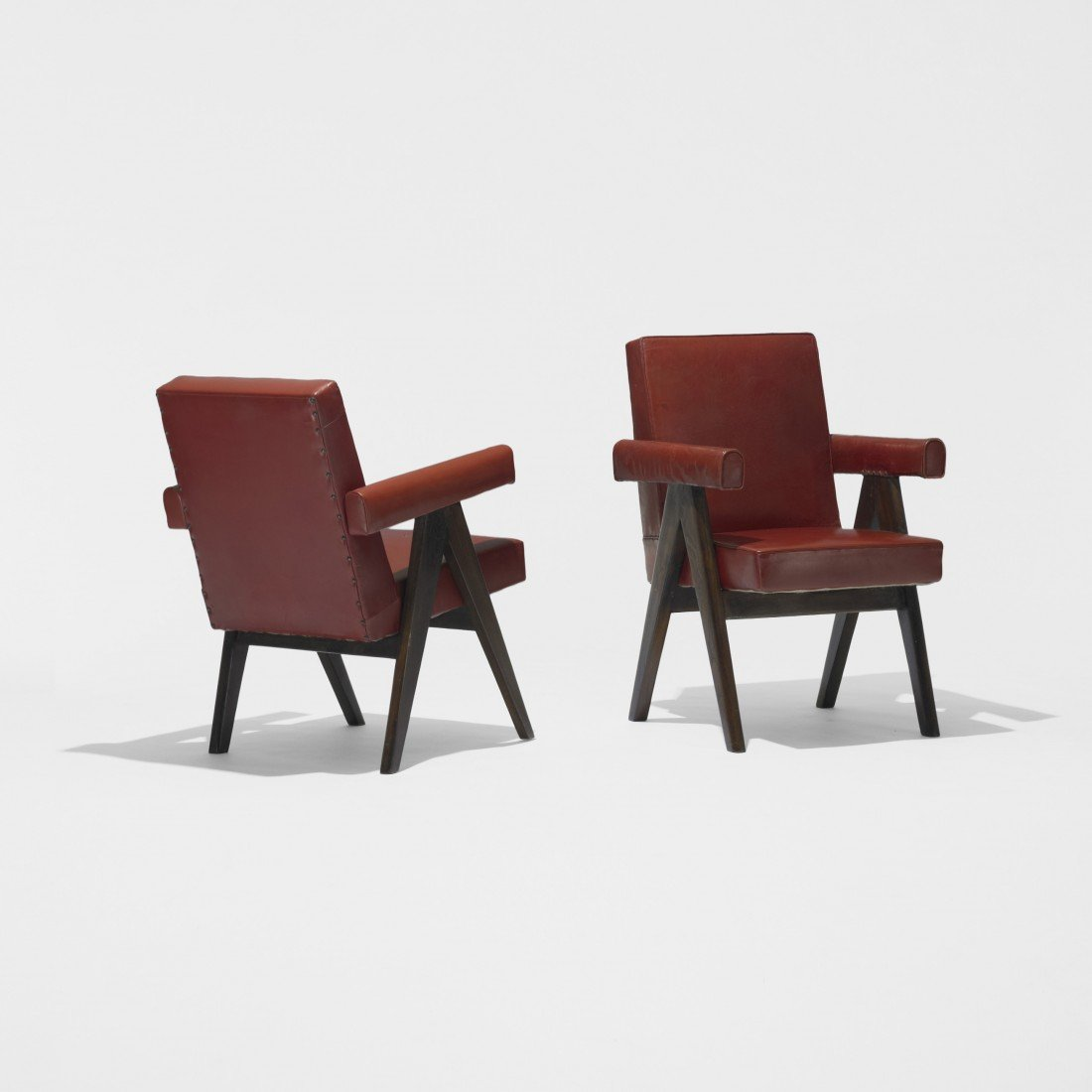 170: Pierre Jeanneret pair of Committe armchairs