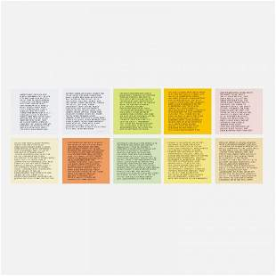 Jenny Holzer Inflammatory Essays, set of ten