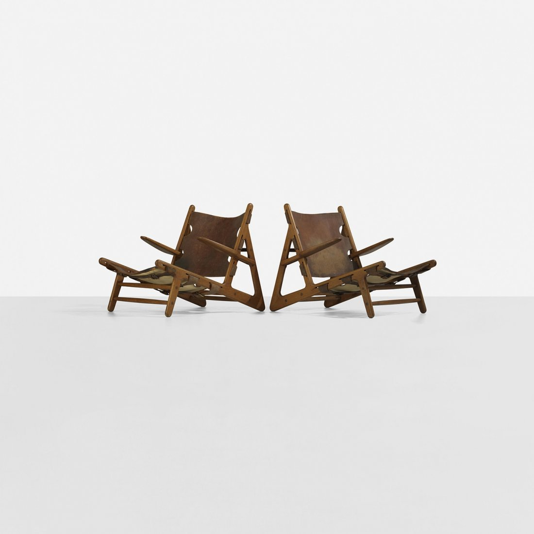 108: Børge Mogensen Hunting chairs, pair