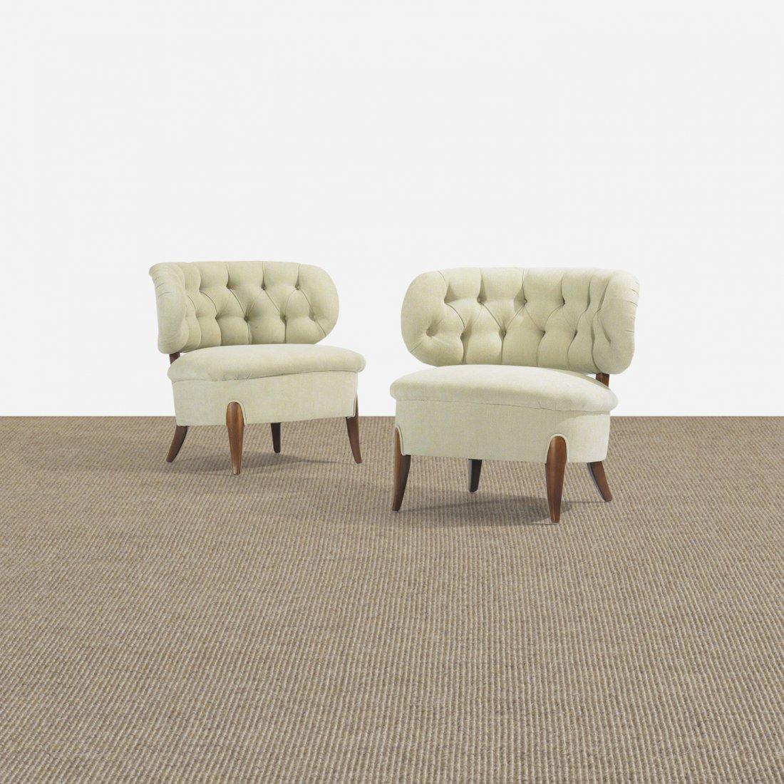 121: Otto Schultz lounge chairs, pair