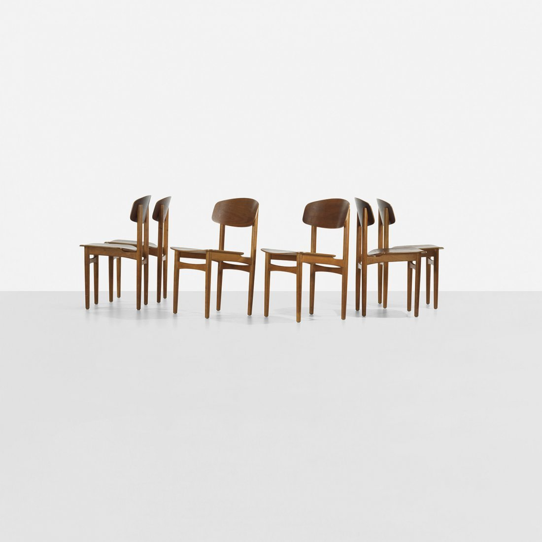 141: Børge Mogensen dining chairs, set of six