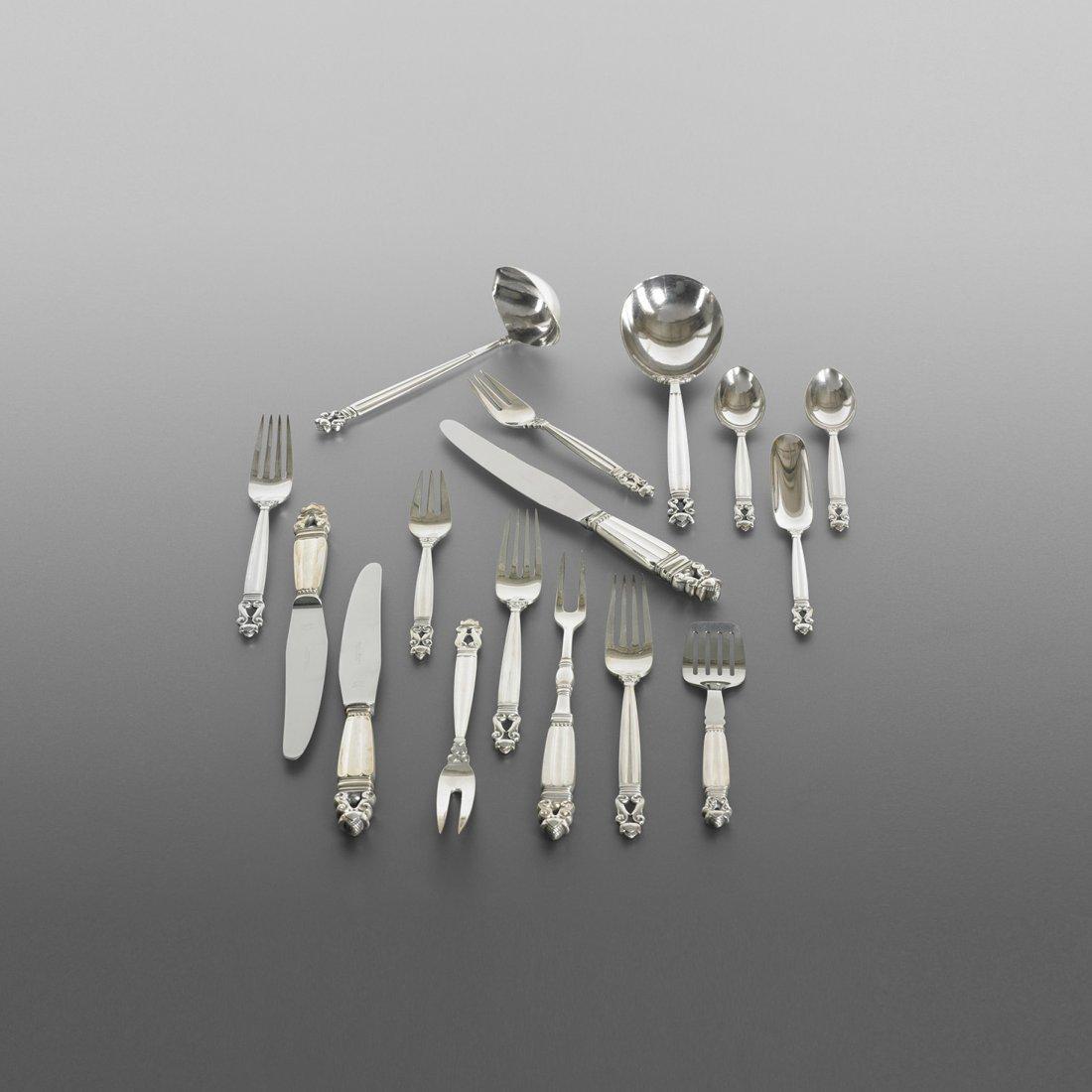 147: Johan Rohde Acorn silverware