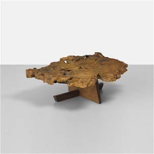 161: George Nakashima Important Minguren I coffee table