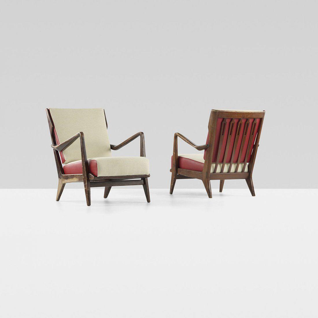 Gio Ponti lounge chairs, pair