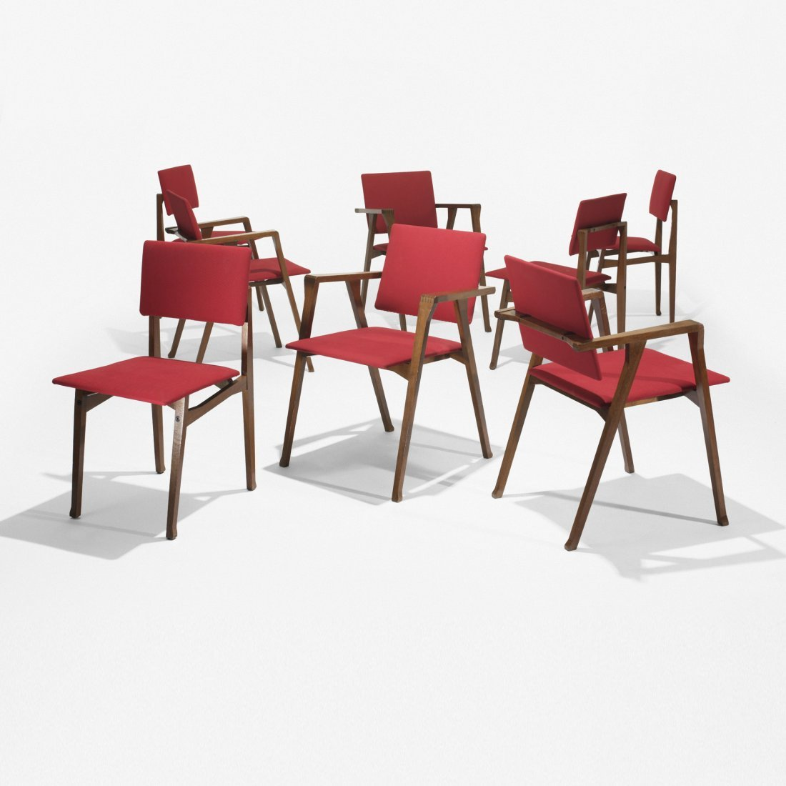 104: Franco Albini Luisa dining chairs, set of eight
