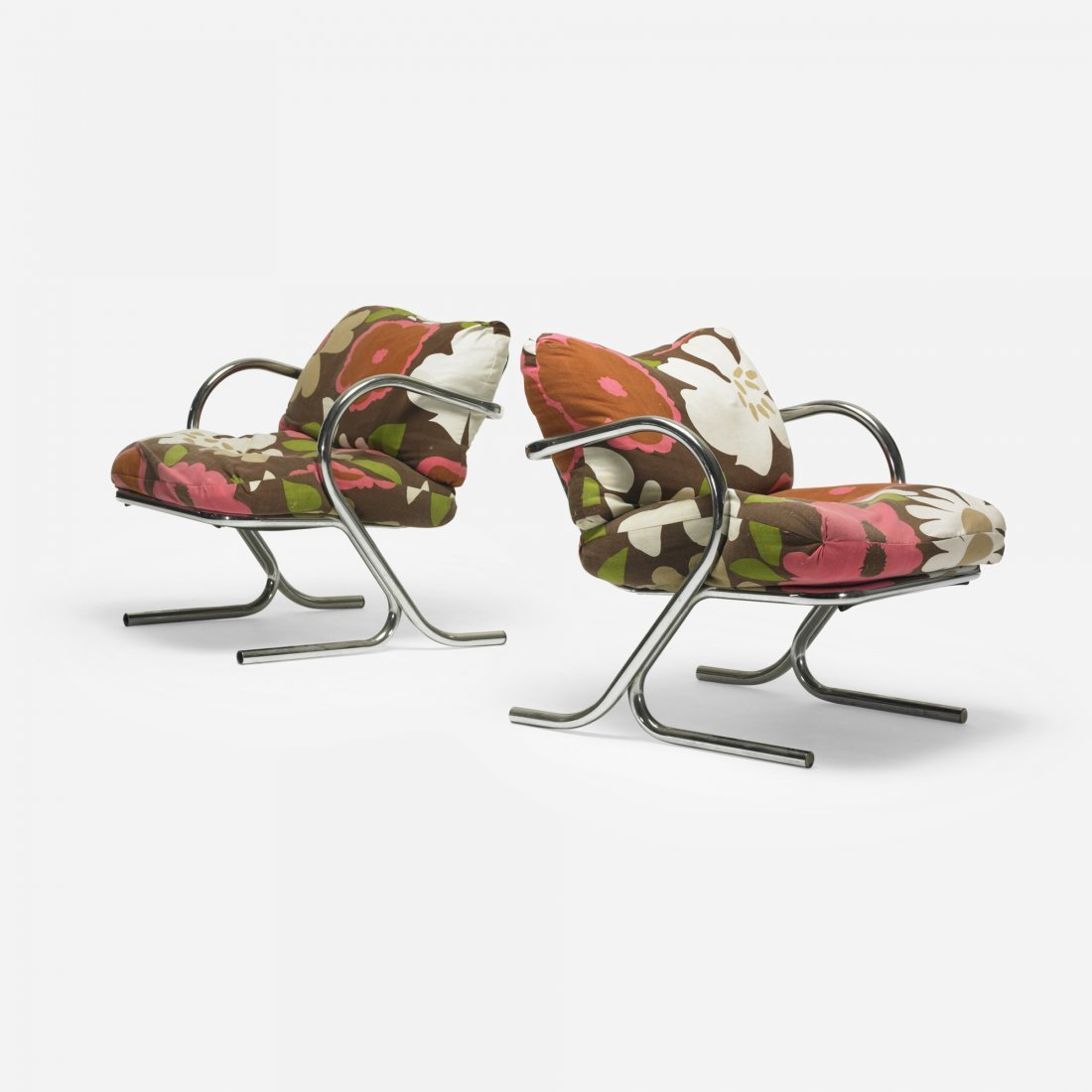 108: American lounge chairs, pair