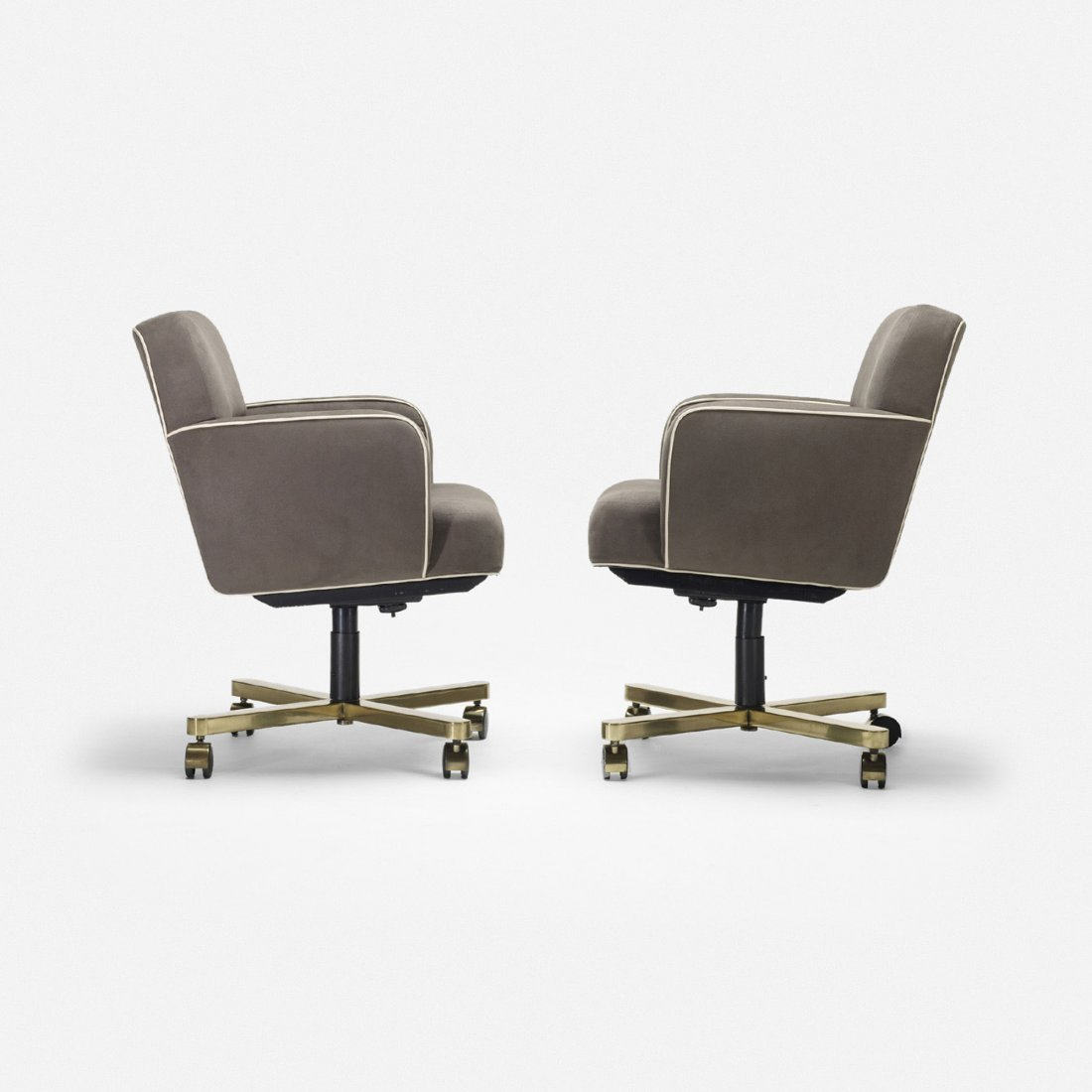 110: American office chairs, pair