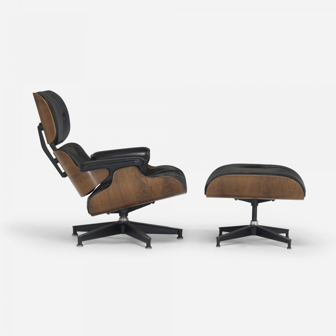 197: Charles and Ray Eames 670 lounge and 671 ottoman
