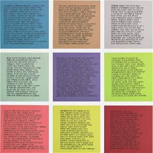 313: Jenny Holzer Inflammatory essays, set of ten
