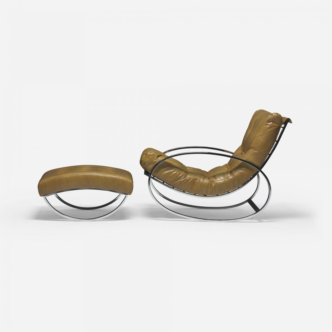 611: Zevi rocking lounge chair and ottoman