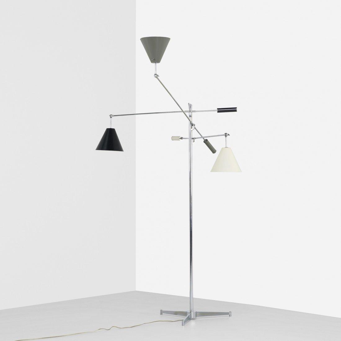 104: Arredoluce Three arm floor lamp