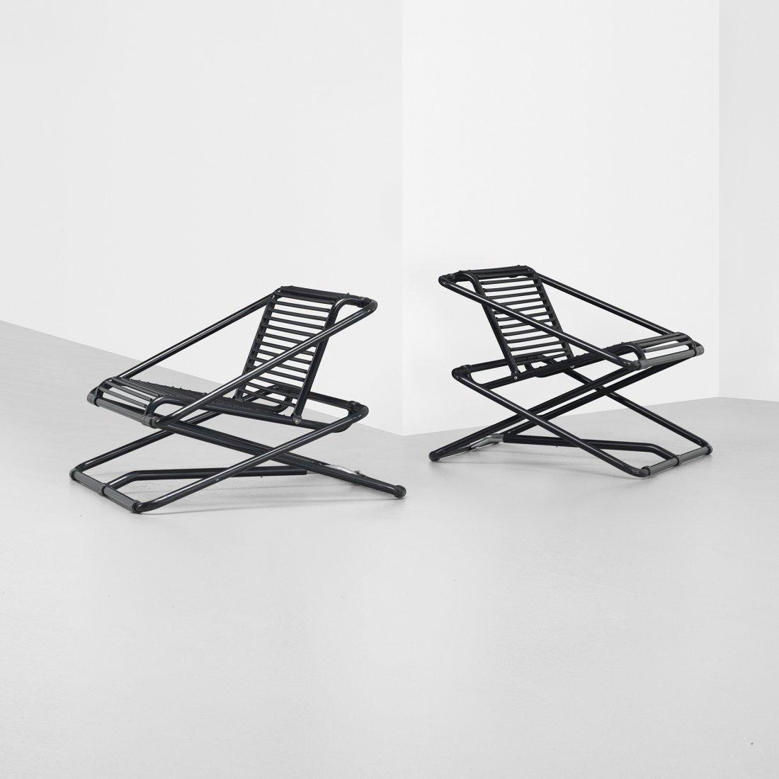 108: Ron Arad Rocking Chairs, pair