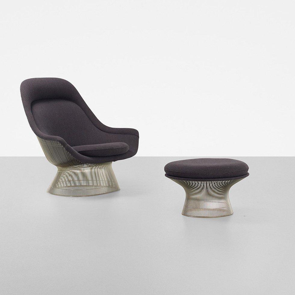 328: Warren Platner lounge chair and ottoman