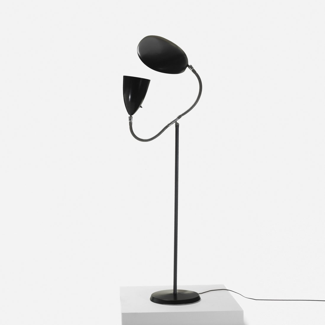 105: Grossman rare double neck floor lamp