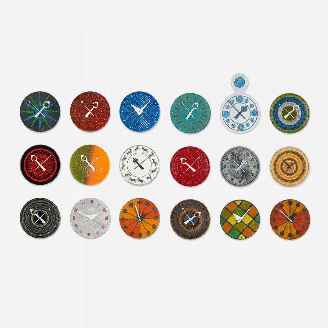 110: Nelson & Associates Meridian clocks (set of 18)