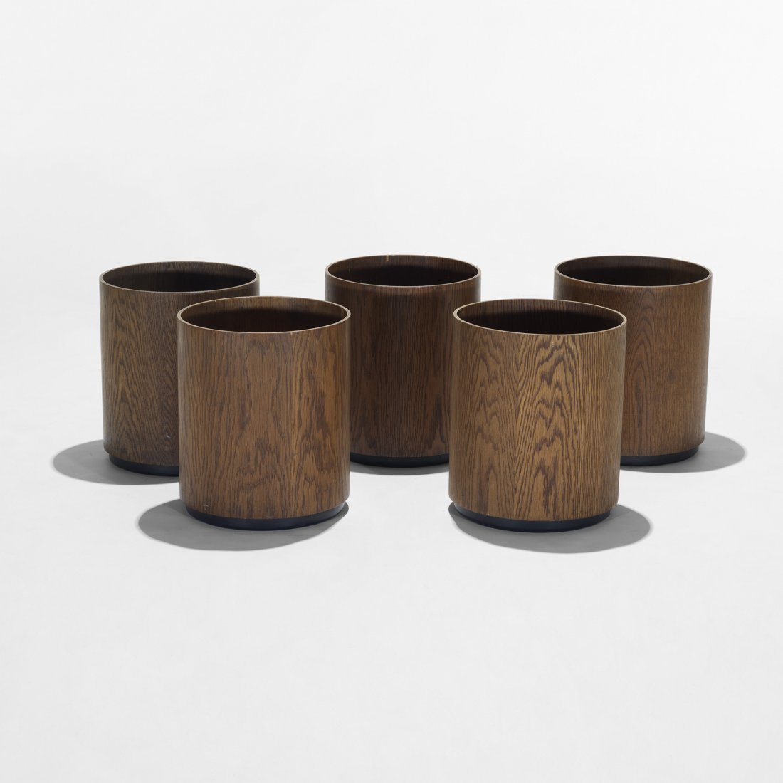 112: Jens Risom wastebaskets, collection of five