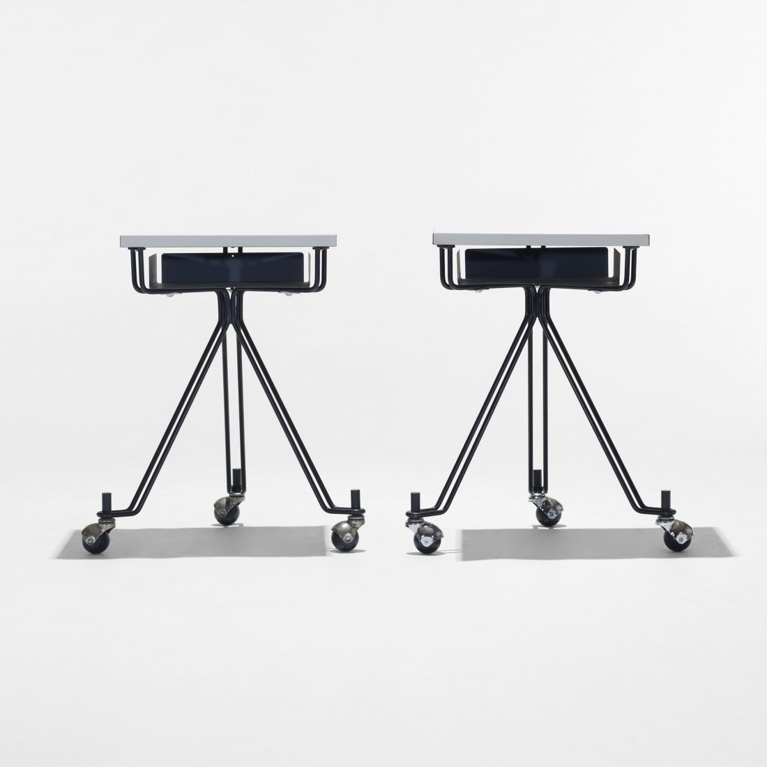 114: Eliot Noyes and Associates telephone tables, pair