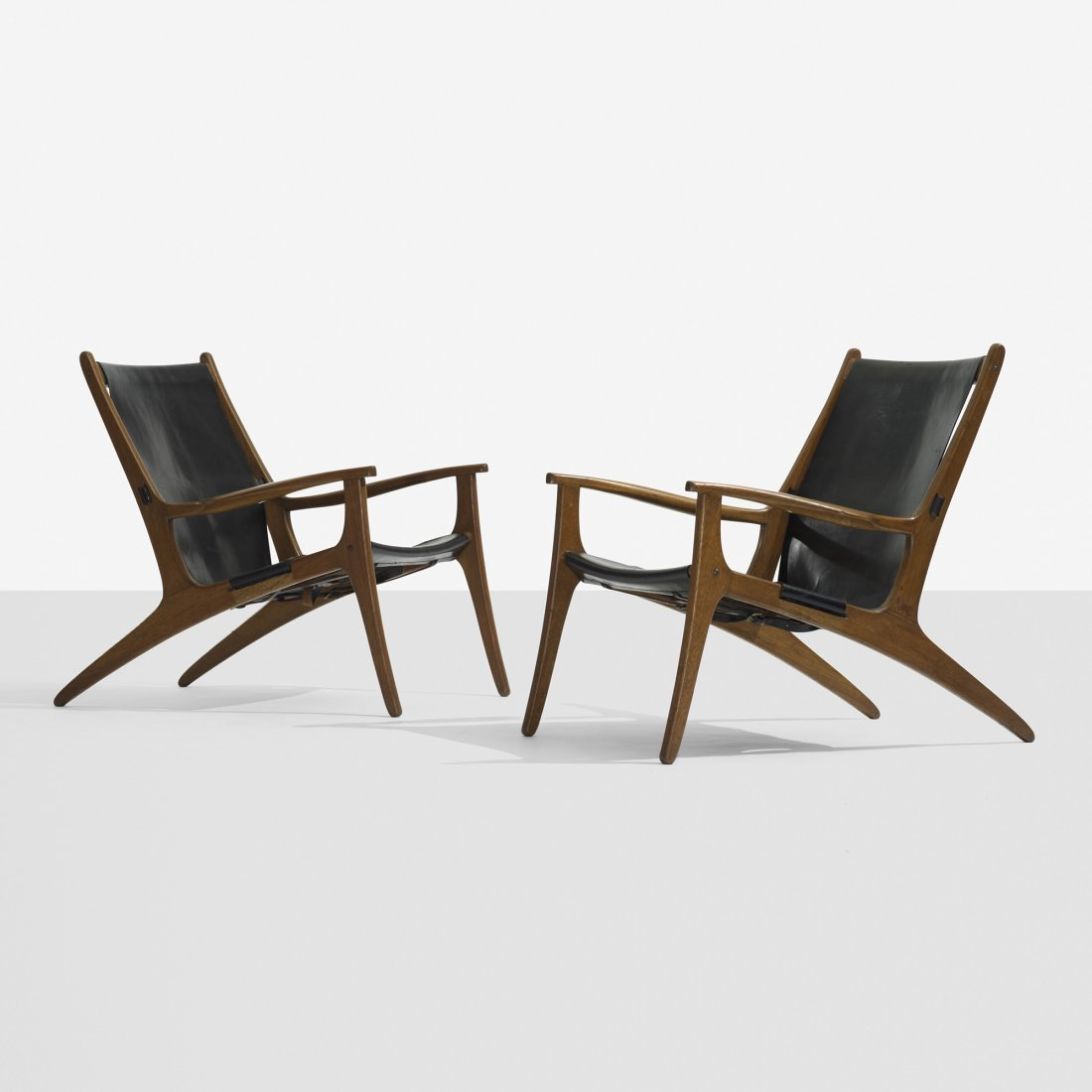 102: Uno and Östen Kristiansson lounge chairs, pair